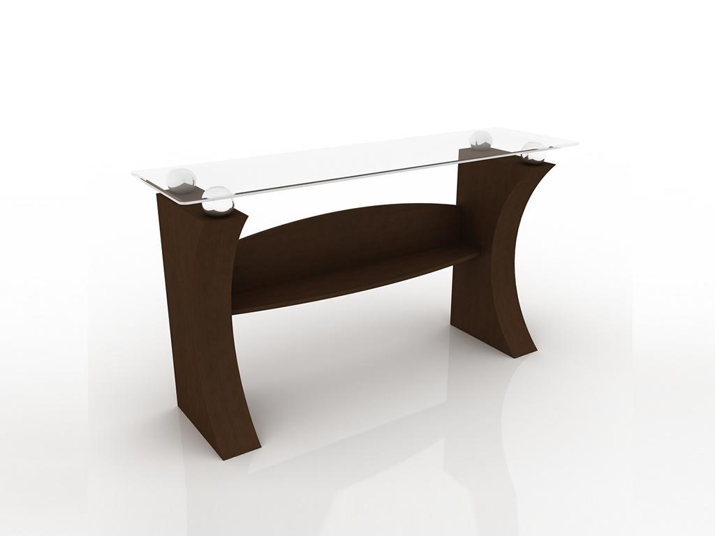 aparador console de madeira com tampo de vidro londres moveis goellner  #322015 1024x768