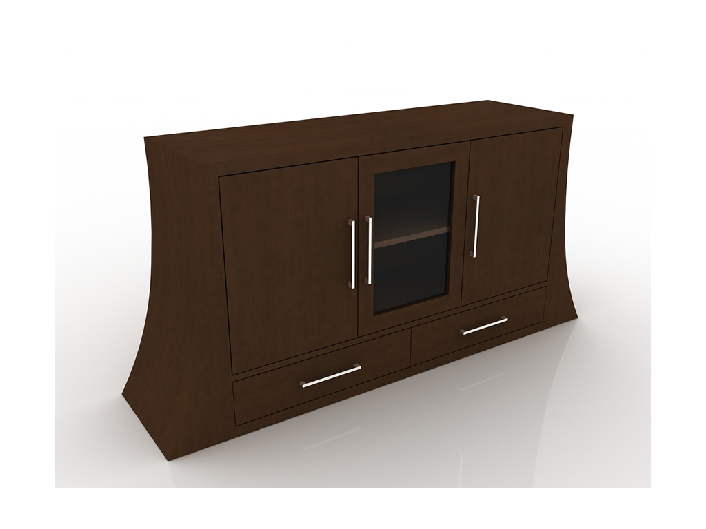 balcao buffet de madeira com porta de vidro aruba moveis goellner  #382719 1024x768
